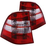Mercedes Benz M Class 1998-2005 Custom Tail Lights Red and Clear