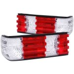 Mercedes Benz S Class 1986-1991 Custom Tail Lights Red and Clear
