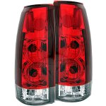 Cadillac Escalade 1999-2000 Red and Clear Custom Tail Lights