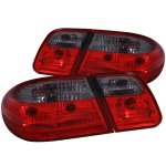 Mercedes Benz E Class Sedan 1996-2002 Custom Tail Lights Red and Smoked