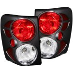 2000 Jeep Grand Cherokee Black Custom Tail Lights