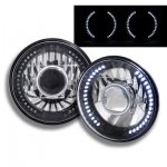 2010 Jeep Wrangler Black Chrome Headlights Conversion LED Halo