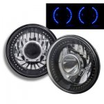 2014 Jeep Wrangler Black Chrome Headlights Conversion Blue LED Halo