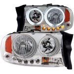 2002 Dodge Durango Halo Headlights Chrome LED