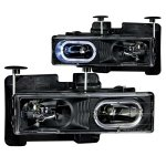 1990 GMC Sierra Halo Headlights Black