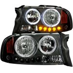 2002 Dodge Durango Halo Headlights Black LED