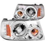 2007 Ford Ranger CCFL Halo Projector Headlights Chrome