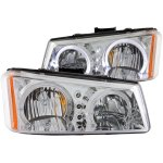 Chevy Silverado 2500HD 2003-2006 Clear Halo Headlights LED