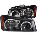 Chevy Silverado 2500HD 2003-2006 Black Halo Headlights LED