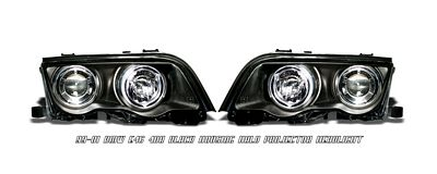 BMW E46 Sedan 3 Series 1999-2001 Black Dual Halo Projector Headlights