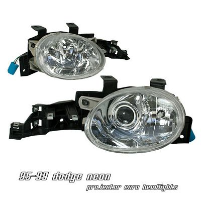 Dodge Neon 1995-1999 Clear Projector Headlights