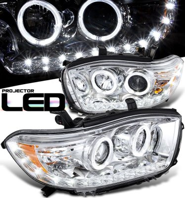 Toyota Highlander 2008-2010 Clear Halo Projector ...
