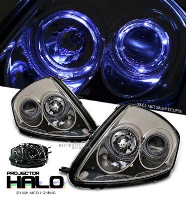 Mitsubishi Eclipse 2000-2005 Smoked Dual Halo Projector Headlights