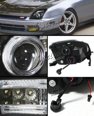 Honda Prelude 1997-2001 JDM Black Projector Headlights