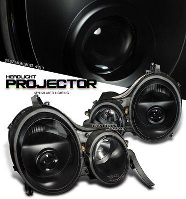 Mercedes Benz E Class 2000-2001 Black Projector Headlights