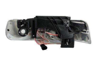 Chevy Silverado 1999-2002 Black LED Halo Projector Headlights