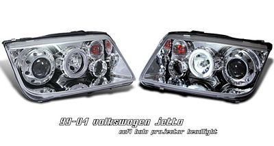 VW Jetta 1999-2004 Clear CCFL Halo Projector Headlights