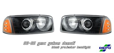 GMC Yukon Denali 2001-2006 Black Projector Headlights