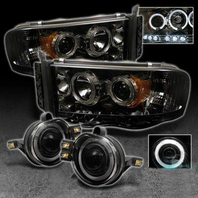 Dodge Ram 2002 2005 Smoked Halo Projector Headlights And Fog Lights A101vx5y101 Topgearautosport