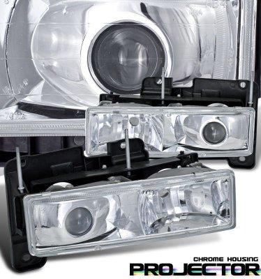 Chevy Suburban 1992-1999 Chrome Projector Headlights