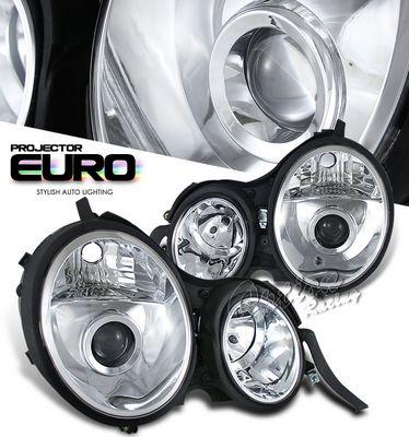 Mercedes Benz E Class 2000-2001 Clear Projector Headlights