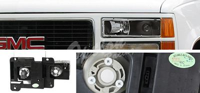 Chevy  Blazer Full Size 1992-1994 Black Projector Headlights