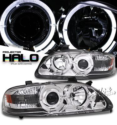 Nissan Sentra 2000-2003 Clear Halo Projector Headlights