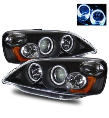 Honda Civic 2001-2003 Black Projector Headlights with Halo