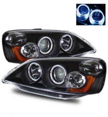 Honda Civic 2001-2003 Black Projector Headlights with Halo