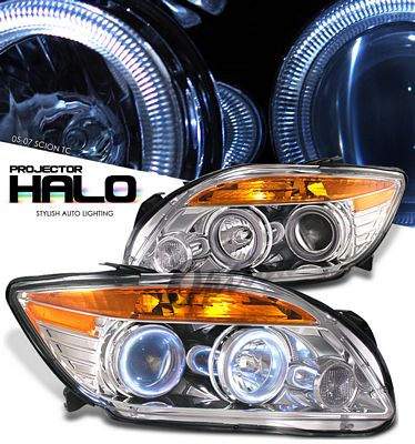 Scion tC 2005-2007 Clear Halo Projector Headlights