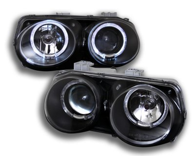 Acura Integra 1998-2001 Black Dual Halo Projector Headlights