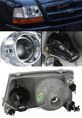 Ford Ranger 1998-2000 Clear Projector Headlights
