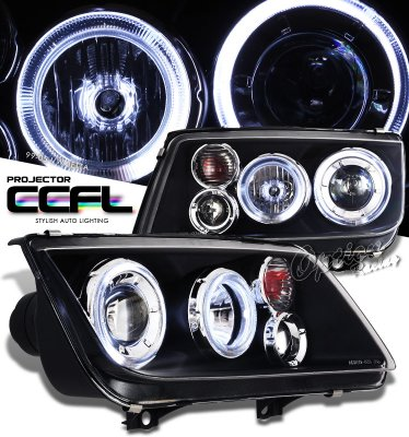 VW Jetta 1999-2004 Black CCFL Halo Projector Headlights