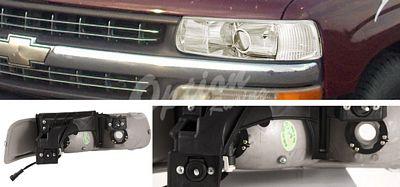 Chevy Silverado 1999-2002 Clear Projector Headlights