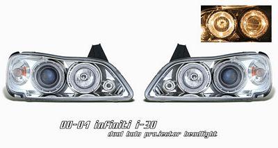 Infiniti I30 2000-2004 Clear Dual Halo Projector Headlights