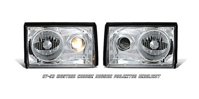 Ford Mustang 1987-1993 Clear Projector Headlights