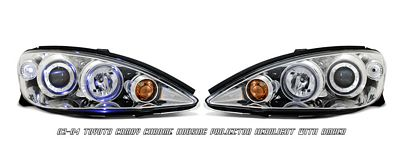 Toyota Camry 2002-2004 Clear Dual Halo Projector Headlights