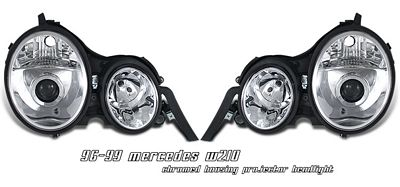 Mercedes Benz E Class 1996-1999 Clear Projector Headlights