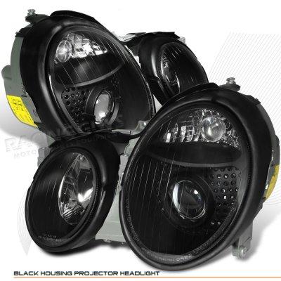 Mercedes Benz CLK 1998-2002 Depo Black AMG Projector Headlights
