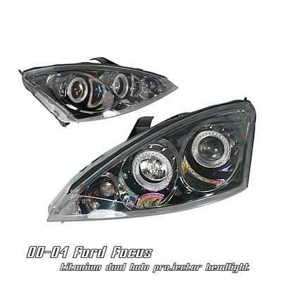Ford Focus 2000-2004 Smoked Halo Projector Headlights