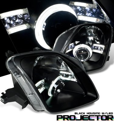 Honda Prelude 1997-2001 JDM Black CCFL Halo Projector Headlights
