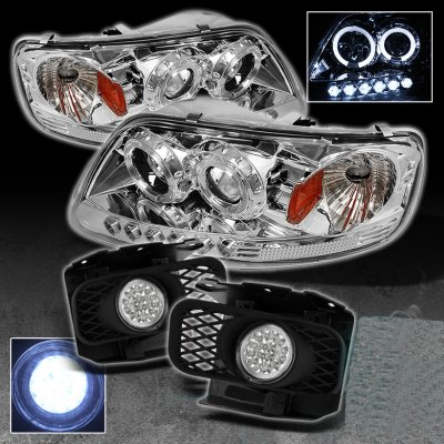 Ford F150 1997 2003 Clear Halo Projector Headlights And Led Fog Lights