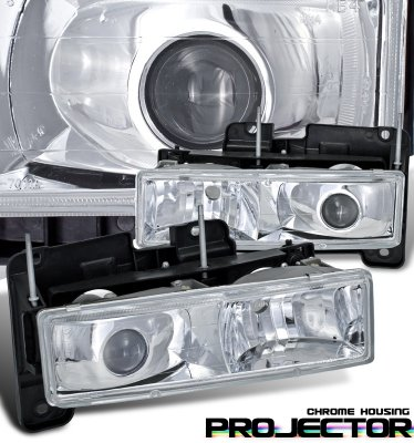 Chevy Silverado 1994-1998 Chrome Projector Headlights