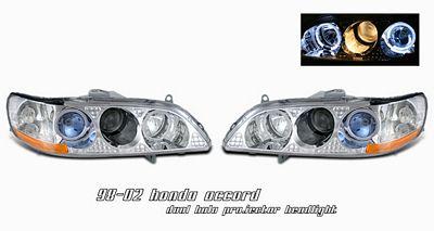 Honda Accord 1998-2002 Clear Dual Halo Projector Headlights