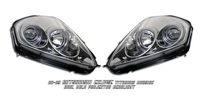 Mitsubishi Eclipse 2000-2005 Smoked Dual Halo Projector Headlights