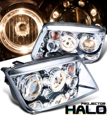 VW Jetta 1999-2004 Clear Dual Halo Projector Headlights
