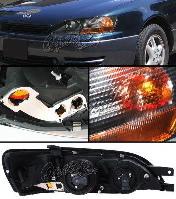 Lexus ES300 1992-1996 Black Projector Headlights
