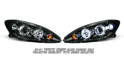 Toyota Camry 2002-2004 Black Dual Halo Projector Headlights