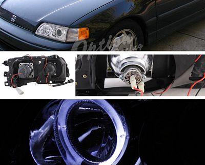 Honda CRX 1988-1991 Clear Halo Projector Headlights