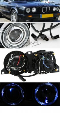 Bmw E30 3 Series 1982 1991 Clear Dual Halo Projector